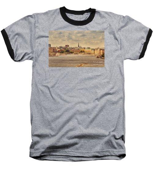 Warm Stockholm View Baseball T-Shirt by RicardMN Photography