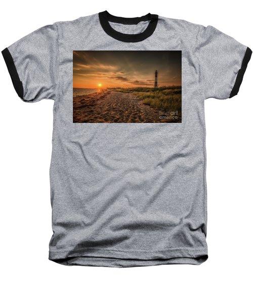 Warm Sunrise At The Fire Island Lighthouse Baseball T-Shirt
