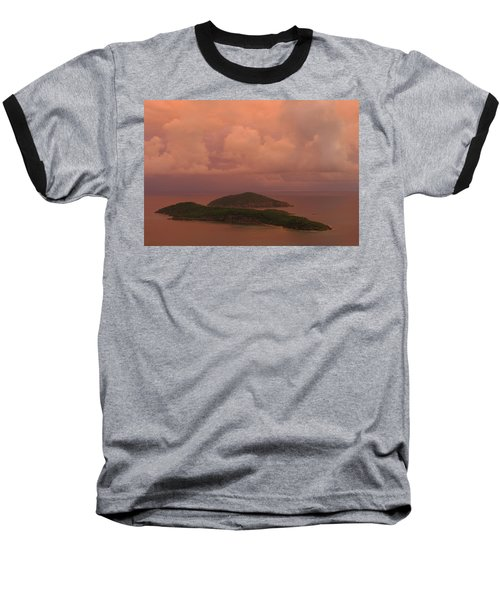 Baseball T-Shirt featuring the photograph Warm Sunset Palette Of Inner And Outer Brass Islands From St. Thomas by Jetson Nguyen