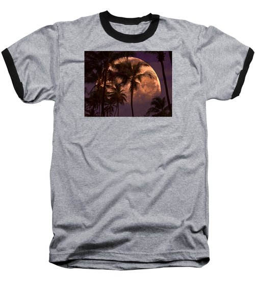 Warm Tropical Nights Baseball T-Shirt by John Rivera