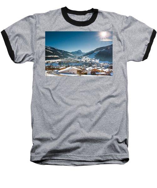 Warm Winter Day In Kirchberg Town Of Austria Baseball T-Shirt