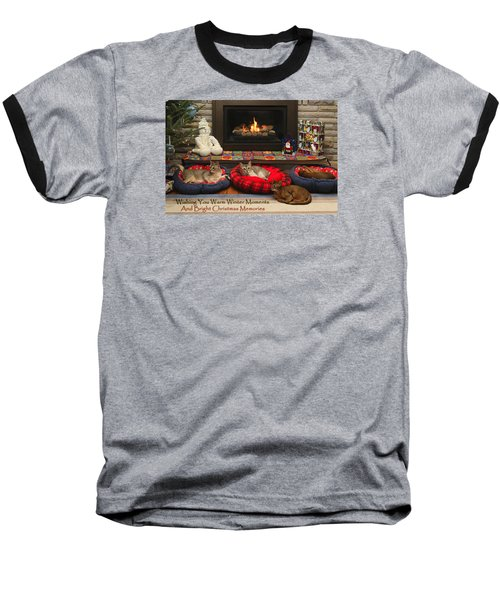 Warm Winter Moments Baseball T-Shirt by Gary Hall