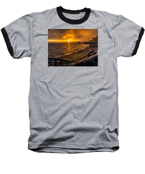 Warming Sunrise Commencement Bay Baseball T-Shirt