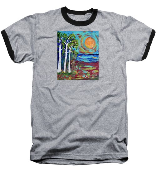 Baseball T-Shirt featuring the painting Warmth Of The Sun by Haleh Mahbod