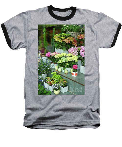 Warnemunde Flower Shop Baseball T-Shirt