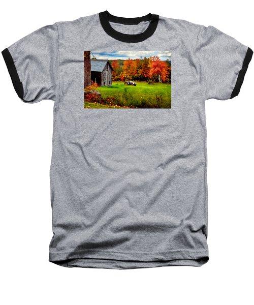Warner Farm Baseball T-Shirt by Tricia Marchlik
