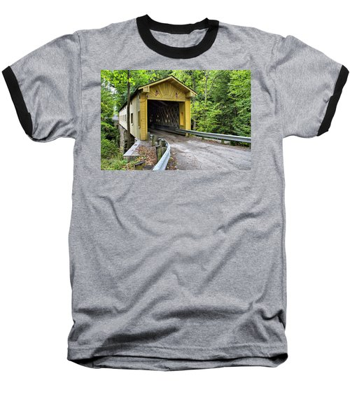 Warner Hollow Covered Bridge Baseball T-Shirt
