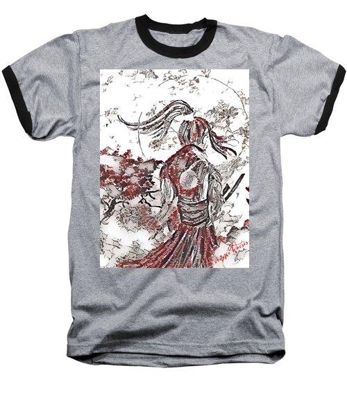 Warrior Moon Anime Baseball T-Shirt by Vennie Kocsis