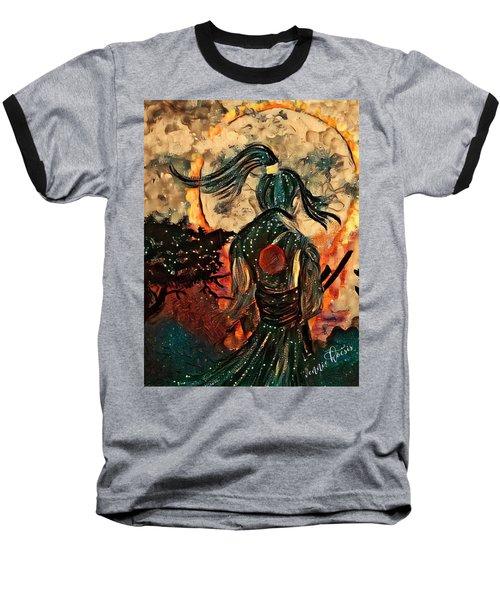 Warrior Moon Baseball T-Shirt