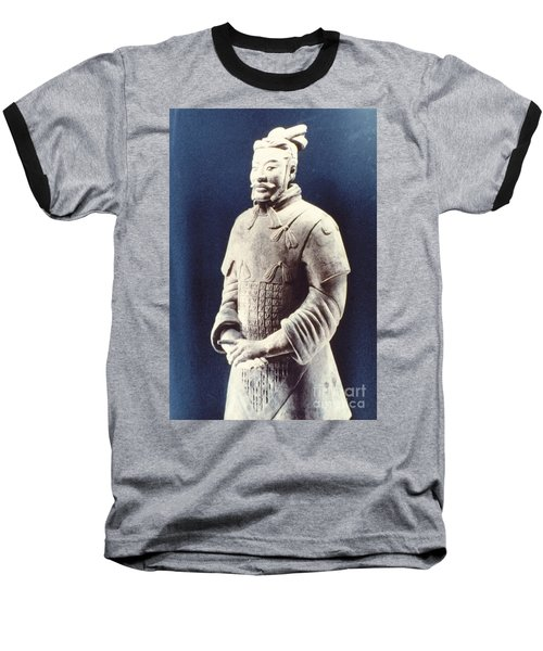 Baseball T-Shirt featuring the photograph Warrior Of The Terracotta Army by Heiko Koehrer-Wagner