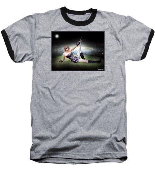 Warrior Princess At Rest Baseball T-Shirt