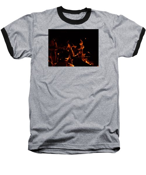 Warrior Rabbit Baseball T-Shirt by Janet Rockburn