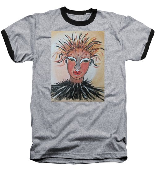 Warrior Woman  #3 Baseball T-Shirt by Sharyn Winters