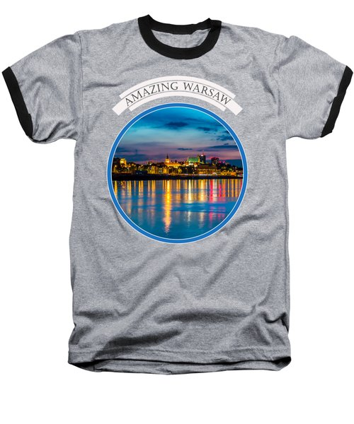 Baseball T-Shirt featuring the photograph Warsaw Souvenir T-shirt Design 1 Blue by Julis Simo