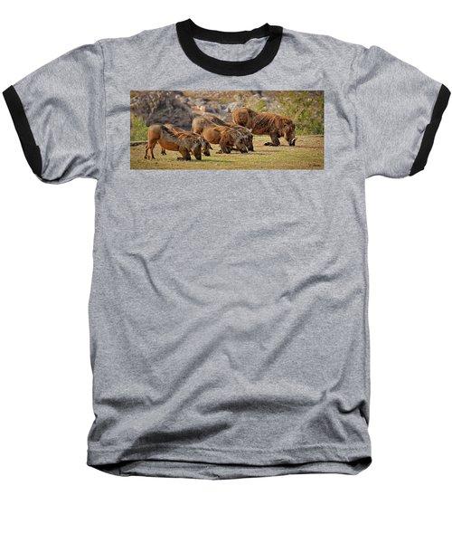Warthogs Doing Lunch Baseball T-Shirt by Joe Bonita