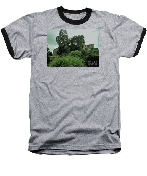 Warwick Castle Bathed In Green Light Baseball T-Shirt