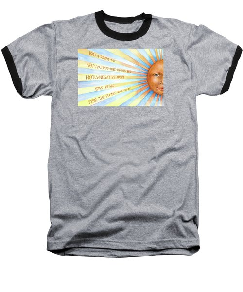 Baseball T-Shirt featuring the painting Was A Sunny Day by Lora Serra