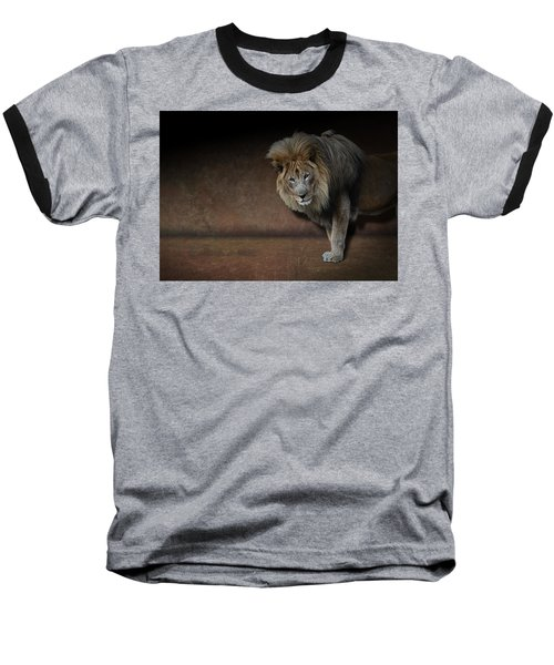 Was That My Cue? - Lion On Stage Baseball T-Shirt