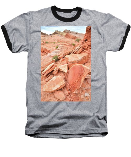 Baseball T-Shirt featuring the photograph Wash 4 Color In Valley Of Fire by Ray Mathis