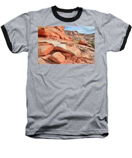 Wash 5 In Valley Of Fire Baseball T-Shirt by Ray Mathis