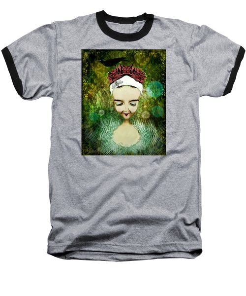 Baseball T-Shirt featuring the digital art Wash Your Face Each Night by Delight Worthyn
