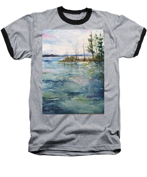 Washed By The Waters Series Baseball T-Shirt by Robin Miller-Bookhout