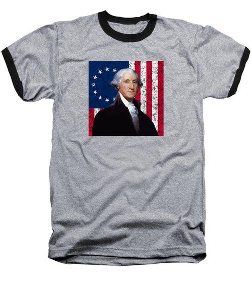 Washington And The American Flag Baseball T-Shirt