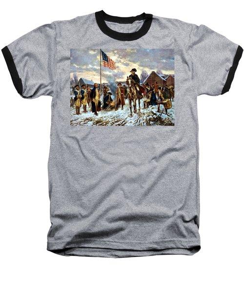 Washington At Valley Forge Baseball T-Shirt