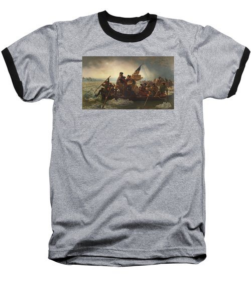 Washington Crossing The Delaware Painting  Baseball T-Shirt