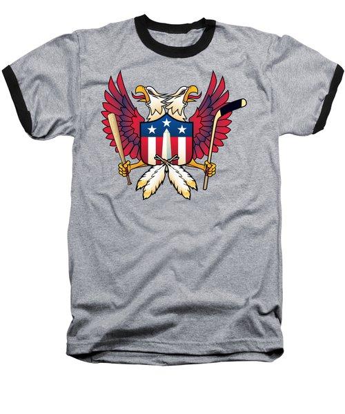 Washington Dc-double Eagle Sports Fan Crest Baseball T-Shirt