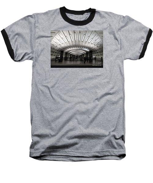 Washington Dc Metro Metro Center Stop Baseball T-Shirt by Art Whitton