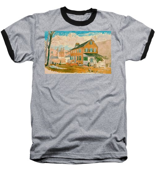 Washington D.c. Square 1874 Baseball T-Shirt by Padre Art