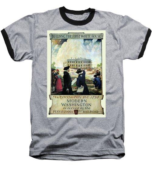 Washington D C Vintage Travel 1932 Baseball T-Shirt by Daniel Hagerman