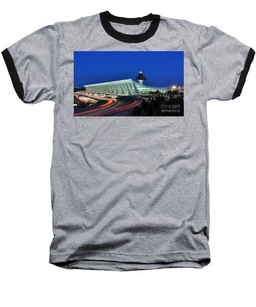 Washington Dulles International Airport At Dusk Baseball T-Shirt