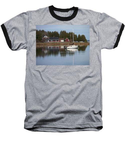 Washington Island Harbor 4 Baseball T-Shirt