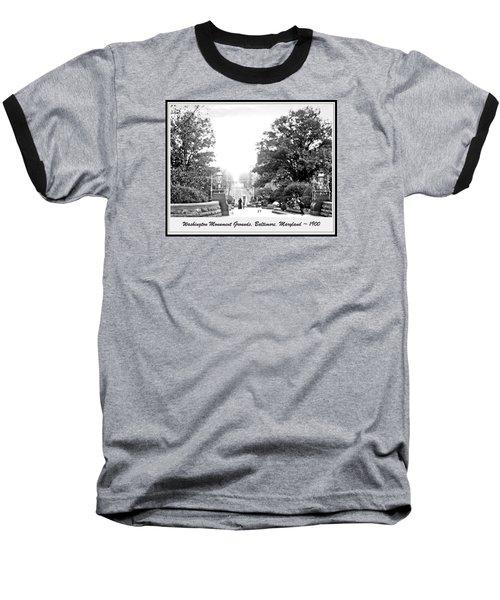 Washington Monument Grounds Baltimore 1900 Vintage Photograph Baseball T-Shirt