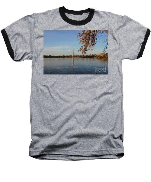 Washington Monument Baseball T-Shirt by Megan Cohen