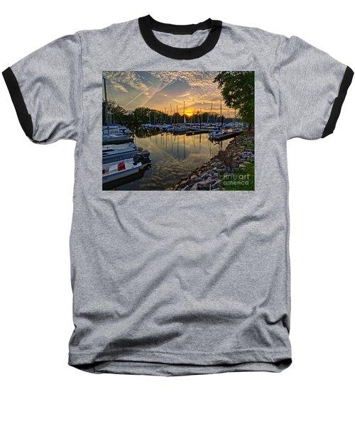 Washington Sailing Marina Baseball T-Shirt