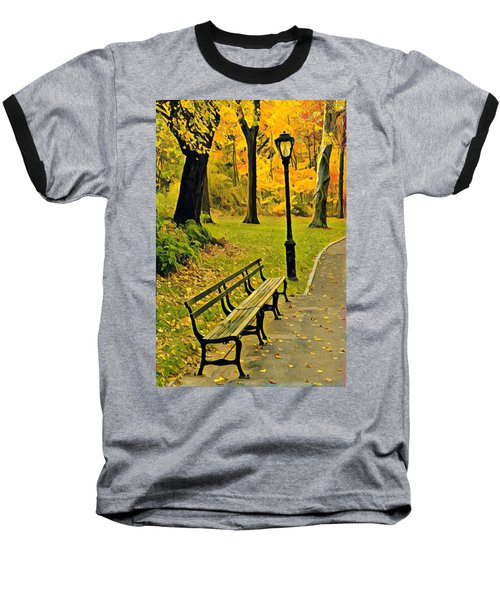 Washington Square Bench Baseball T-Shirt
