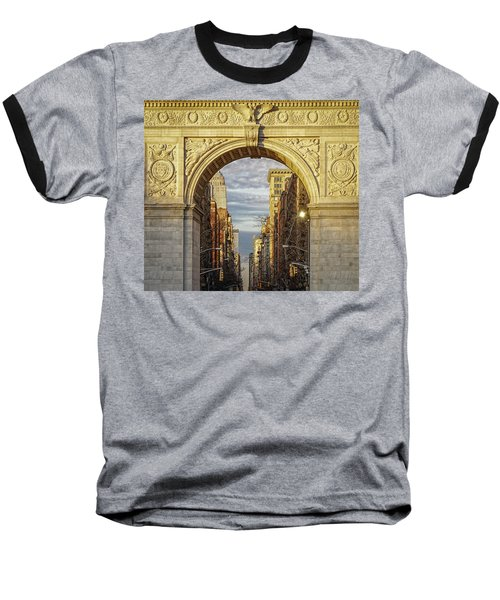 Washington Square Golden Arch Baseball T-Shirt