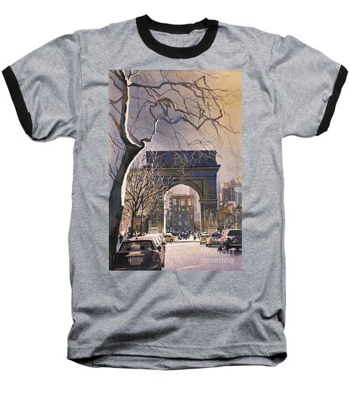 Washington Square- Nyc Baseball T-Shirt by Ryan Fox