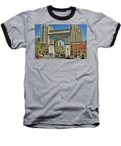 Washington Square Park - N Y C Baseball T-Shirt