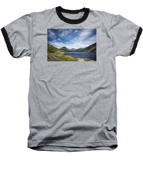 Wastwater Morning Baseball T-Shirt by Jacqi Elmslie