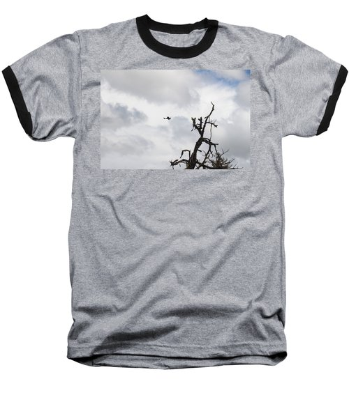 Baseball T-Shirt featuring the photograph Watch Out For That Tree by Marie Neder