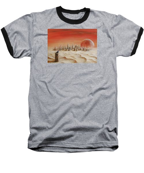 Baseball T-Shirt featuring the painting Watcher by Arturas Slapsys