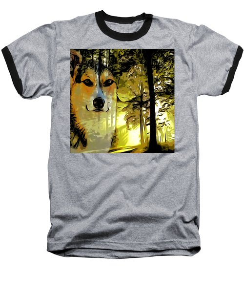Baseball T-Shirt featuring the digital art Watcher Of The Woods by Kathy Kelly