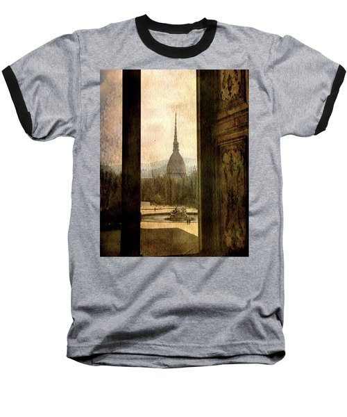 Watching Antonelliana Tower From The Window Baseball T-Shirt
