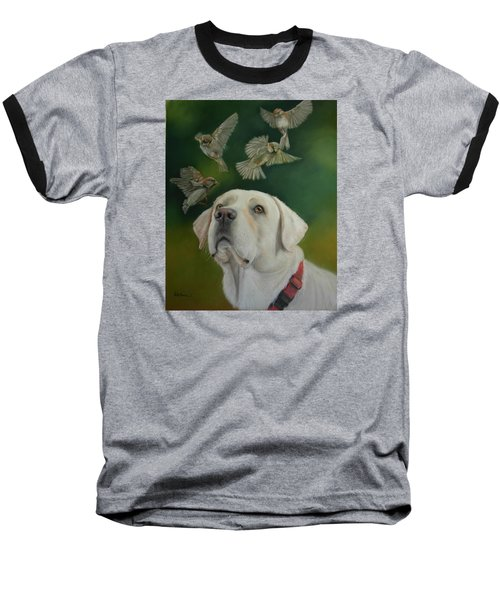 Baseball T-Shirt featuring the painting Watching Birds by Ceci Watson