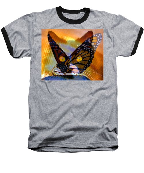 Baseball T-Shirt featuring the photograph Watching Butterlies by David Lee Thompson