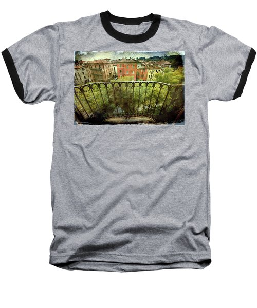 Watching From The Balcony Baseball T-Shirt